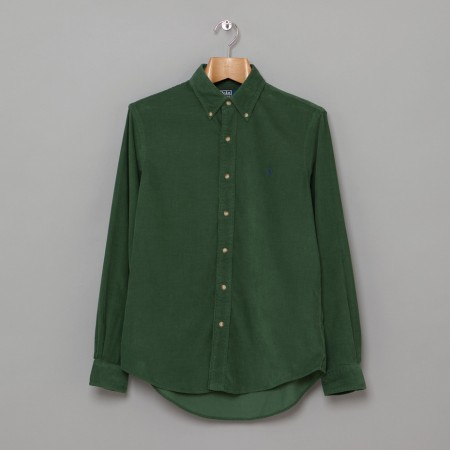 Custom Fit BD Shirt Green Cord Oi Polloi