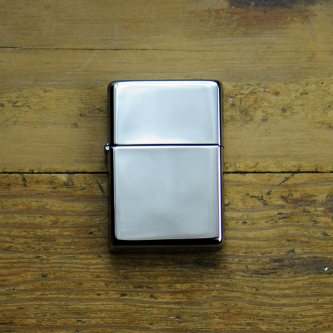 Zippo Lighter Vintage Polished Chrome Cool Material
