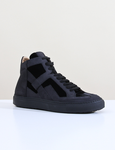 Mm6 Hightop Sneaker Black