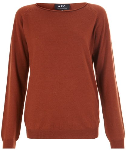 Rust Raglan Jumper A P C Women s Shop more knitwear from the latest A P C Women s collection online at Liberty co uk