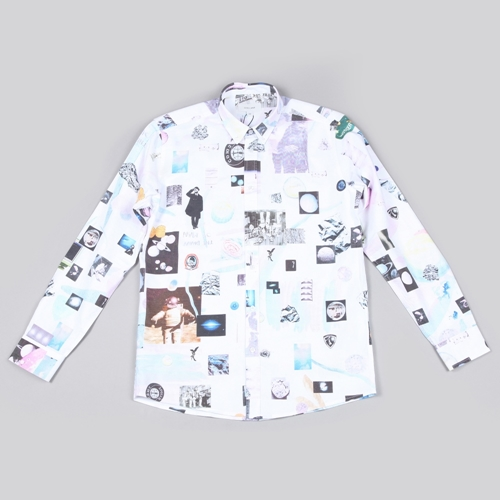 Soulland Podolsky Printed Shirt White Multi