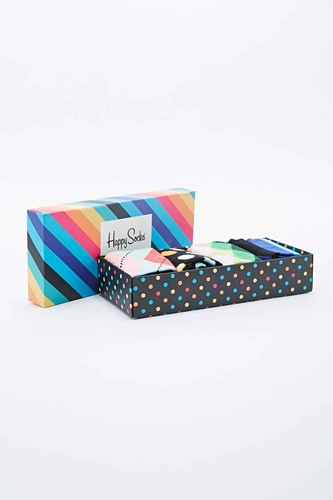 Happy Socks Assorted Pattern Sock Pack In Multicolour Urban Outfitters
