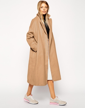 Asos Asos Coat In Relaxed Oversized Fit At Asos