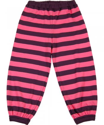 Pink shadow stripe bottoms by Katvig Nordic Kids