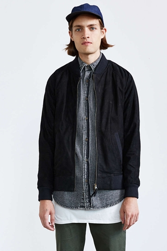 Zanerobe Playa Suede Bomber Jacket Urban Outfitters