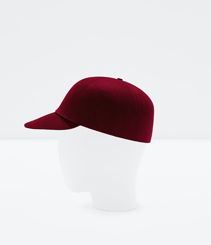 Topstitched Felt Cap Man New This Week Zara Netherlands