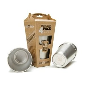 Amazon com Klean Kanteen Stainless Steel Pint Cup Pack Of 4 Stainless 16 Ounce Sports Outdoors