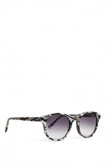 Paris Black White Animal Print Sunglasses By Prism