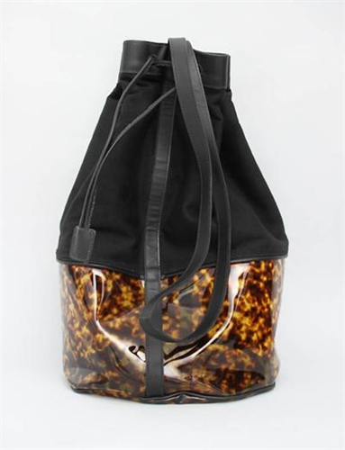 Maslin Co Day Trip Tortoiseshell Duffle Black