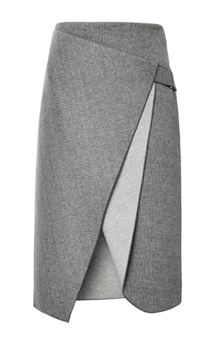 Bonded Felt And Raven Saddle Envelope Skirt By Dion Lee Moda Operandi