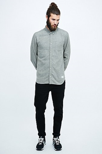 Suit Perry Forest Brushed Cotton Shirt In Green Urban Outfitters