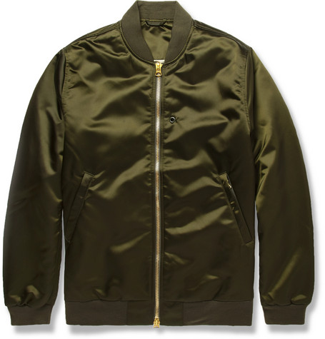 Acne Studios Selo Satin Bomber Jacket Mr Porter