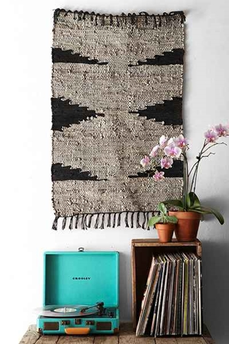 Magical Thinking Woven Leather Rug Urban Outfitters