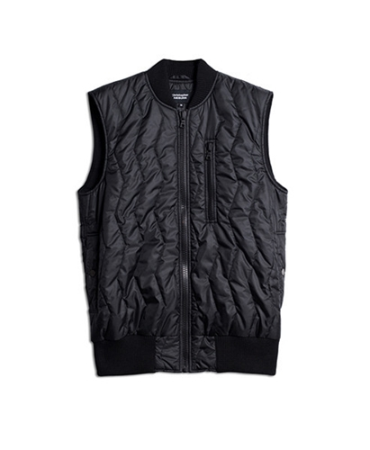 Neighbour Quilted Gilet Black