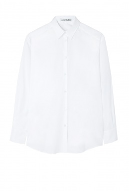 Acne Studios Leia White Poplin Shirt By Acne