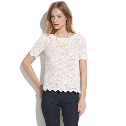Scallop Lace Top blouses Women s SHIRTS TOPS Madewell
