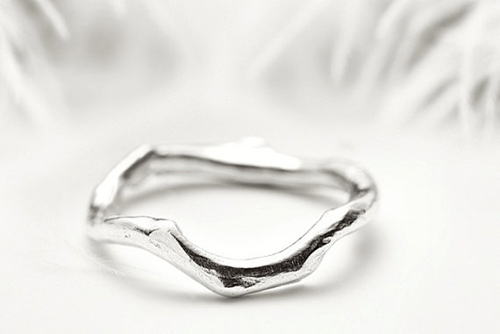 Staking Silver Ring Organic Coral Branch Inspired Band By Redsofa