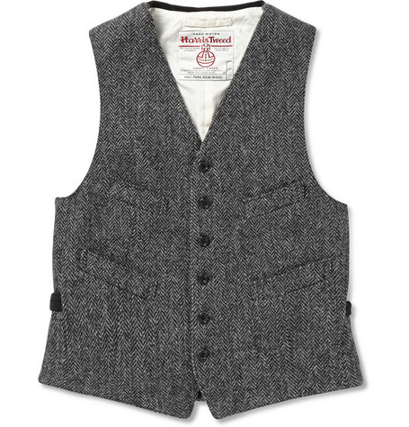 Beams Plus Harris Tweed Waistcoat Mr Porter