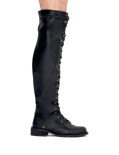 Knee High Lace Up Boots Knee High Combat Boot 89