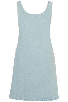 MOTO Denim Pinafore Dress Dresses Clothing Topshop