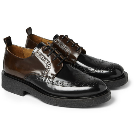 Ami Two Tone Polished Leather Brogues Mr Porter