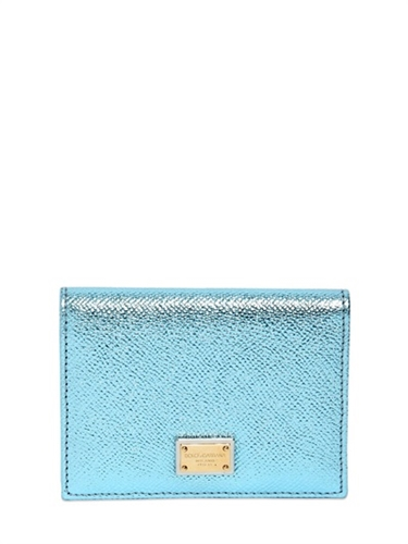Dolce Gabbana Dauphine Lame Leather Coin Wallet Luisaviaroma Luxury Shopping Worldwide Shipping Florence