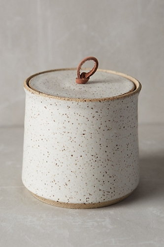 Speckled Stone Canister Anthropologie.Com