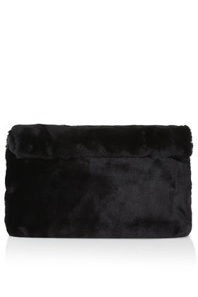 Faux Fur Roll Top Clutch Clutch Bags Bags Purses Bags Accessories Topshop Europe