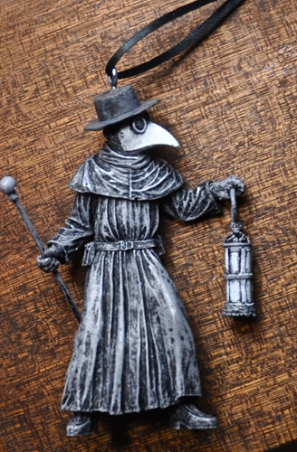 Plague Doctor Ornament By Dellamorteco On Etsy