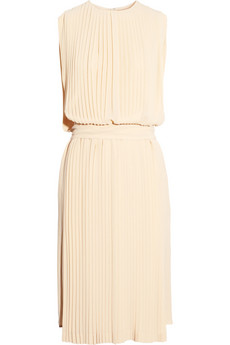 Chloe Pleated silk georgette dress NET A PORTER COM
