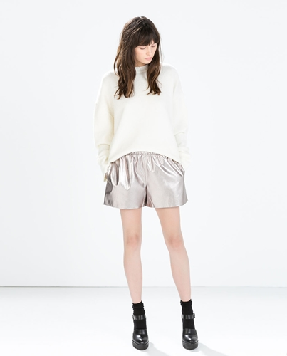 Metallic Shorts Woman New This Week Zara United Kingdom