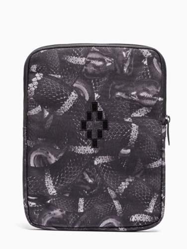 Ipad Case From The F W2014 15 Marcelo Burlon County Of Milan Collection In Allover Black Snake Print.