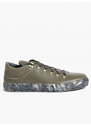 Filling Pieces Men's Grey Mountain Cut Leather Sneakers Oki Ni