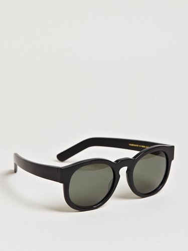 Larke Unisex Gill Matt Black Sunglasses Ln Cc