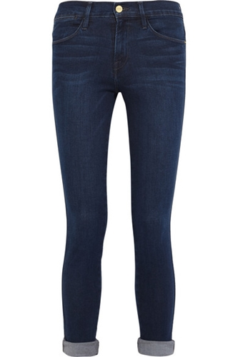 Frame Denim Le High Skinny Crop High Rise Jeans Net A Porter.Com