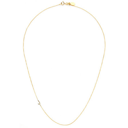 Maya Brenner Asymmetrical Mini Letter Necklace Womens Jewelry Steven Alan