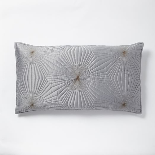 Starburst Coverlet Shams Feather Gray West Elm