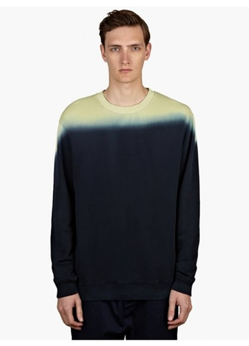 Men's Yellow Dip Dye Sweatshirt