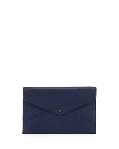 Danielle Nicole Tina Faux Leather Envelope Clutch Navy