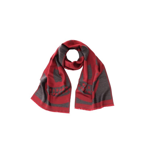 Oversized Skull Wool Scarf Alexander Mcqueen Men's Scarf Accessories