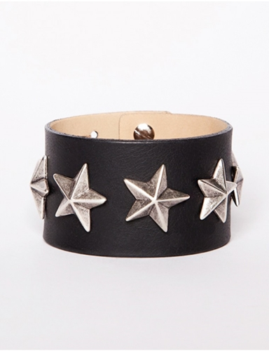 Leather Star Bracelet Sta6444 44.00 Pixie Market Fashion Super Market