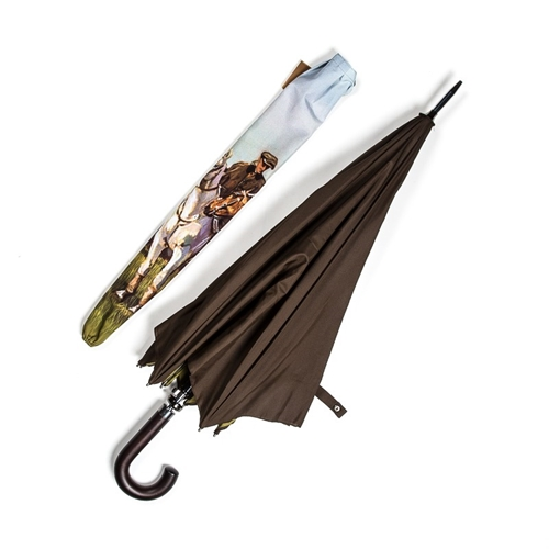 Barbour Printed Horse Umbrella In Brown Atoo.Co.Uk