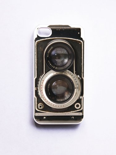 Iphone 4 Case Retro Twin Reflex Camera White By Onyourcasestore