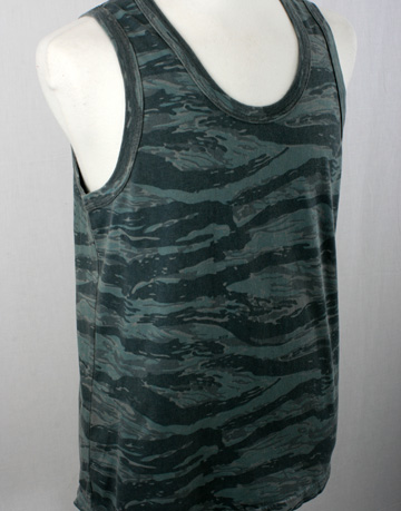 Warriors of Radness Camo Vest Gray Grey Green Camouflage WOR Vest Tank Warriors of Radness Big Palms Tank Vest in Gray Camo