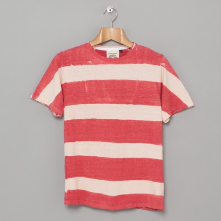 6 2 oz Tie Dye Stripe Tee Red Oi Polloi