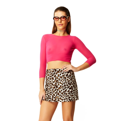 Faux Real Beige Leopard Fur High Waisted Mini By Americandeadstock