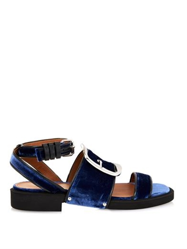 Alessa Velvet Buckle Sandals Givenchy Matchesfashion.Com