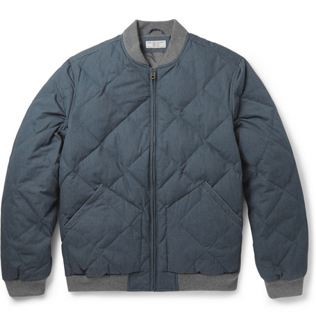 J.Crew Quilted Cotton Blend Bomber Jacket Mr Porter