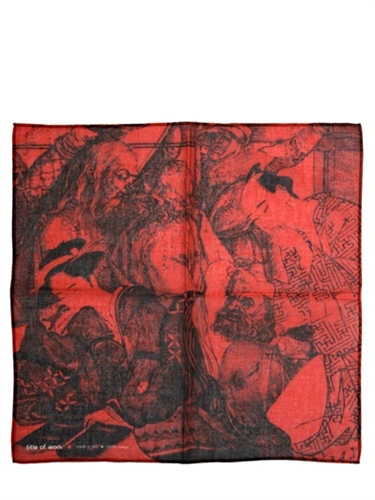 Title Of Work Betrayal Cotton Voile Pocket Square Luisaviaroma Luxury Shopping Worldwide Shipping Florence
