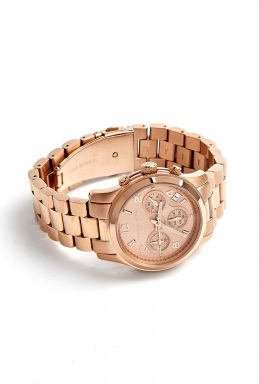 Michael Kors Watches Rose Gold Chronograph Watch by Michael Kors Watches